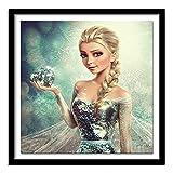 Diamant-3D-Malerei Needlework volle Bohrgerät-Diamant-Stickerei-Schneekönigin-Kreuz-Stich Nähen Stricknadel (Color : Round Diamond, Size : 45x45cm)