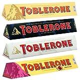 Toblerone Ultimate 4 Pack - 360g Each - Milk Chocolate, Fruit & Nut, White Chocolate & Dark Chocolate