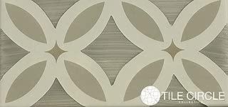 Greige Flower Listello Ceramic Tile 3