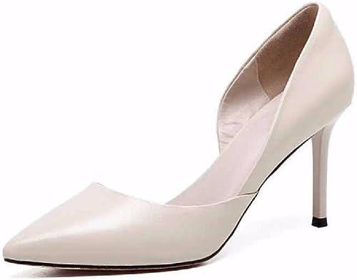 QPSSP des Chaussures à Talons Haut, Rugueux Et Square De Chaussures, Les Chaussures De Loisirs Grille Peu Profonds des Chaussures De Femmes.