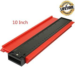 Contour Gauge, 10 Inch Ezgauge Master Outline Profile Gauge Duplicator, Easy Irregular Copy Ruler For Woodworking And Template (Shape Measuring Tool) - Red