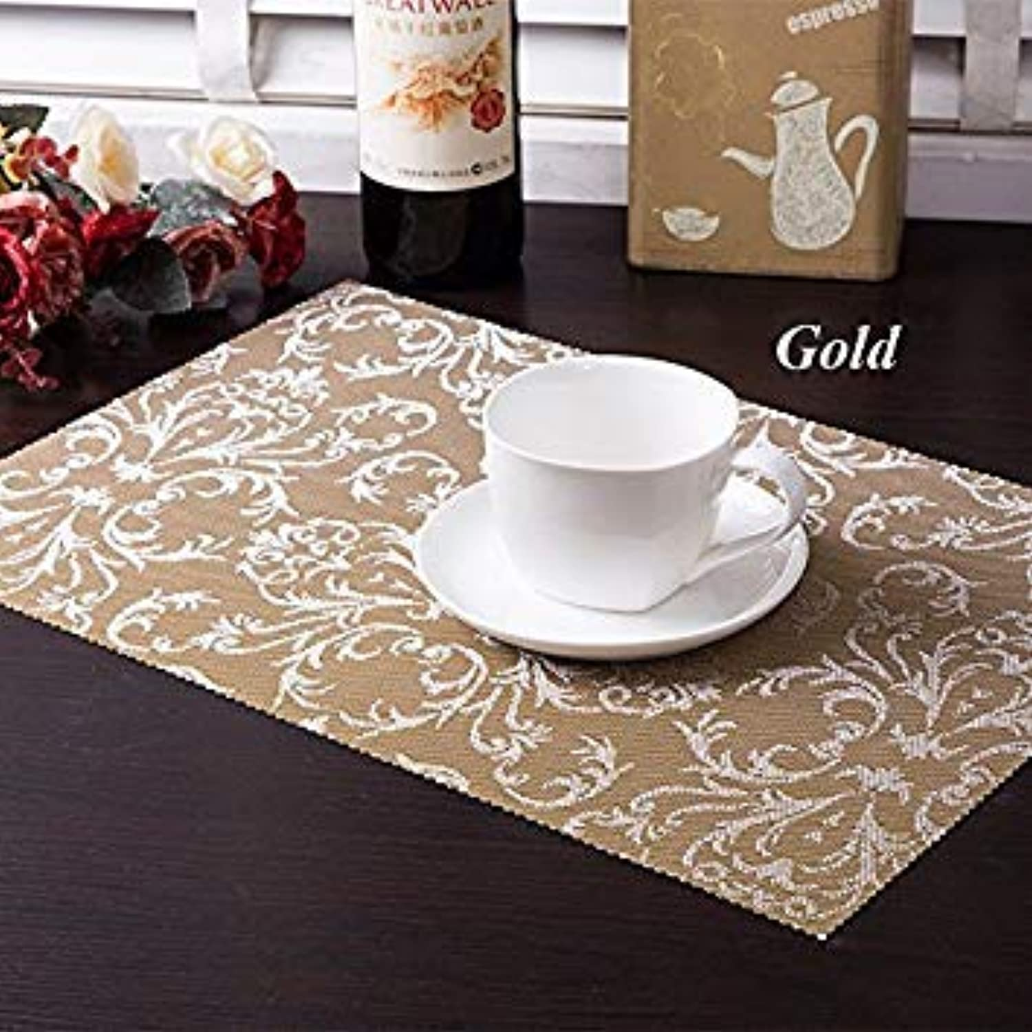 4 Pcs Lot PVC Placemat Dining Tables Mats Bar Mat Waterproof Kitchen Accessories Dining Table Mat Bowl Pad Table Decoration