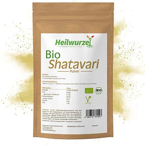 Bio Shatavari Pulver | 250g, 500g, 1kg | Wilder Spargel - Ayurveda | Laborgeprüft | Heilwurzel (1000g)