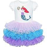 Sunny Fashion Vestito Bambina Sirena Tutu Danza Balletto Tiered Gonna 3 Anni