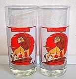 Vetro, Re Leone, Coca-Cola, Originale, vetro da collezione, 2 x 0,4 litri, retrò, vintage, Fanta