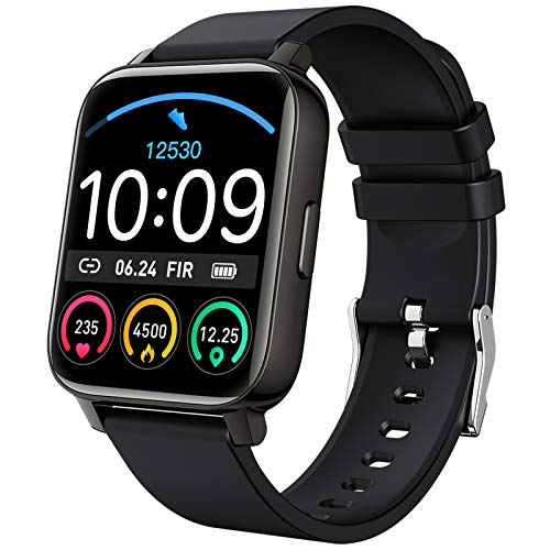 """Smart Watch 2021 Ver. Watches for Men Women, Fitness Tracker 1.69"""" Touch Screen Smartwatch Fitness Watch Heart Rate Monitor, IP67 Waterproof Pedometer Activity Tracker Sleep Monitor for Android iPhone"""