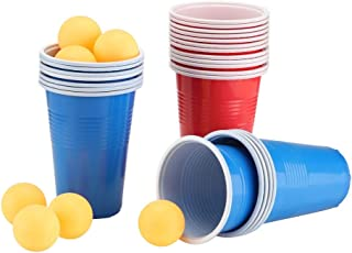Beer Pong Set Beer Pong Bere Gioco Set Beer Pong Cup-22 Cups 4 Palline da ping-pong Ristorante Cucina Forniture Beer Pong Cup A Beer Pong Cup non tossico per la festa