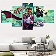 Our 5 consecutive paintings have two sizes A and B:[A:20x35cmx2 20x45cmx2 20x55cmx1],[B:40x60cmx2 40x80cmx2 40x100cmx1] Beautiful decoration, increase the elegance of your home, it has high-definition picture, novel and unique design, it is also a go...