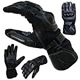 PROANTI Sommer Regen Motorradhandschuhe mit Visierwischer Motorrad Handschuhe (XXL)