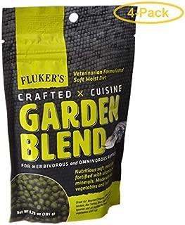 Fluker's Crafted Cuisine Garden Blend Reptile Diet 6.5 oz - Pack of 4