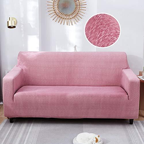 Fundas de sofá elásticas para Sala de Estar Funda de sofá con patrón Cruzado Moderno para sofá de Diferentes Formas Funda de sofá Estilo L A14 4 plazas