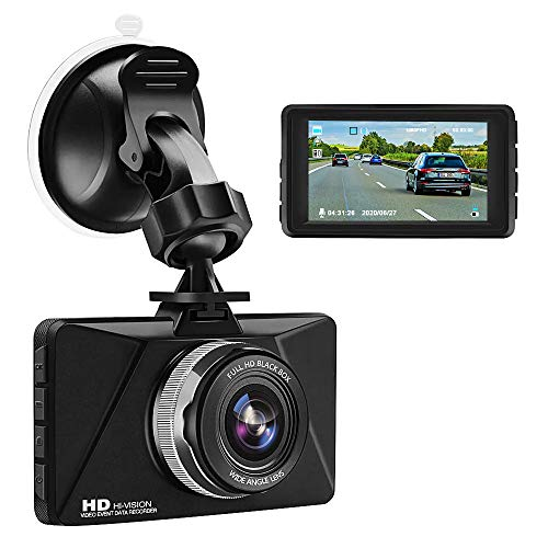 Car Dash Cam,Jimwey Dash Cam 3 inch Dashboard Camera Full 1080P HD 170° Wide Angle Backup Camera Front and Inside Car Camera Recorder with Night Vision,Parking Mode and Loop Recording (Black1)