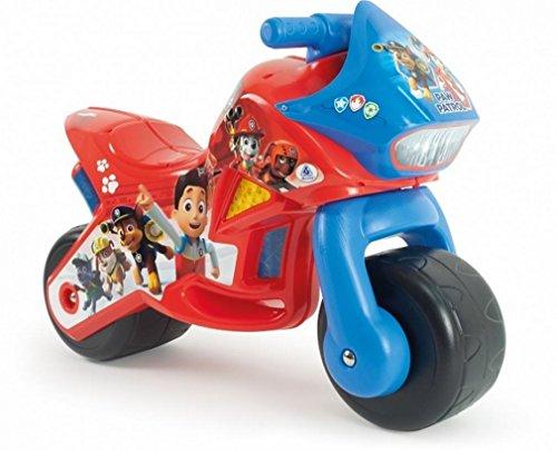 INJUSA - Moto Cavalcabile Twin Dessert Paw Patrol con Decorazione Permanente e Maniglia per il Transporto Raccomandata per Bambini +18 Mesi