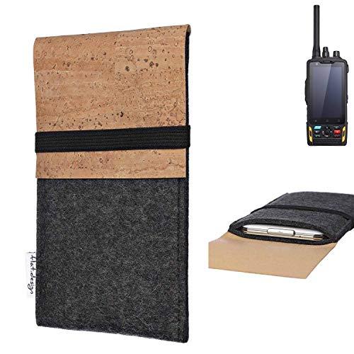 flat.design Handy Hülle SAGRES für Ruggear RG760 Made in Germany Handytasche Filz Tasche Schutz Case fair Kork