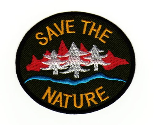 Aufnäher Bügelbild Aufbügler Iron on Patches Applikation Save the Nature