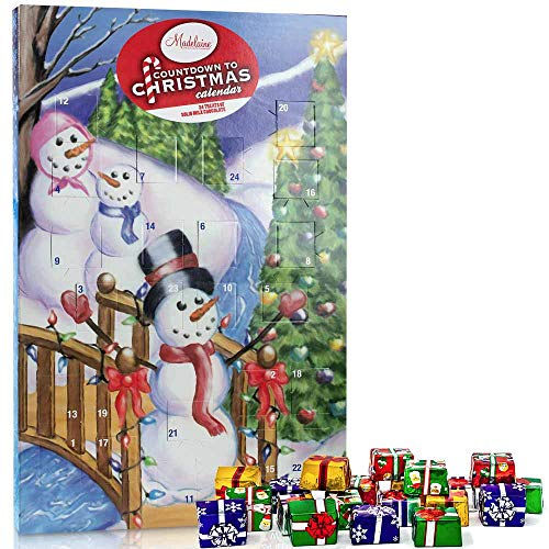 Madelaine Chocolates Christmas By The Creek Countdown Advent Calendar, Filled With (8 oz - 226 g) Solid Premium Milk Chocolate Presents (1 Pack)