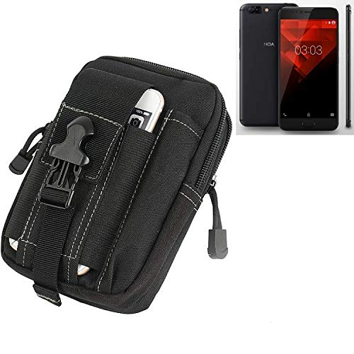 K-S-Trade Gürtel Tasche für NOA H10le Gürteltasche Schutzhülle Handy Hülle Smartphone Outdoor Handyhülle schwarz Zusatzfächer