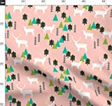Rosa, Wald, Kanada, Natur, Wandern, Winter Stoffe -