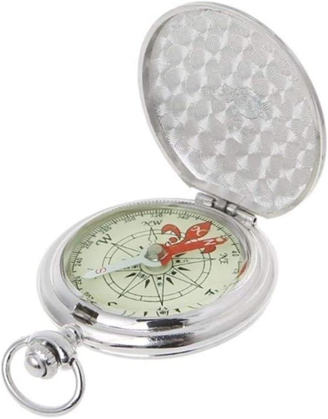 LTH-GD Brújula de navegación Reloj de Bolsillo de Tapa brújula Senderismo brújula de navegación portátil Luminoso en la Oscuridad compás de la navegación del Coche Llavero Equipo de Vela (Color : S)