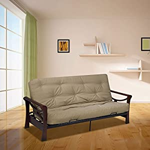 Lace Tufted for Superior Comfort 8-Inch Mattress Features 288 Bonnel Innerspring Unit Foam and Fiber Cover Top and Bottom of Innerspring Medium Support Made in the USA Note: Color may slightly vary due to lighting