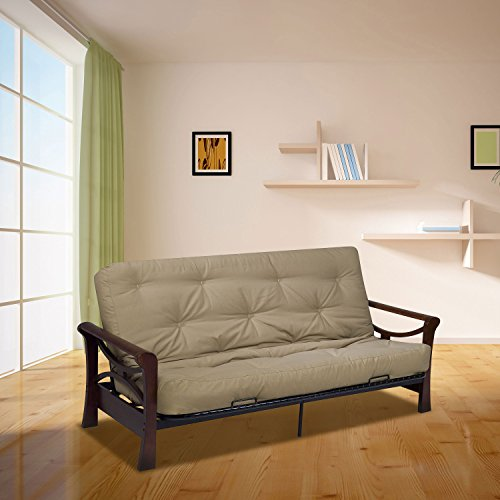 Serta Cypress Double Sided Innerspring Queen Futon Mattress, Khaki, Made in the USA