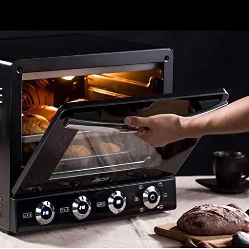 Fours à convection de 38 L, four grille-pain, revêtement antiadhésif, fours à 2 étages avec plateau à miettes, plaque chauffante et couvercle, four à