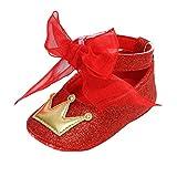 Zapatos De Bebé De Cinta Zapatos De Princesa Zapatos De Antideslizantes De Fondo Suave Zapatos De Encaje hasta Bautizo Bautismo AblucióN Boda Fiesta Zapatos De Baile CumpleañOs NiñO Zapatos 0-18Mes