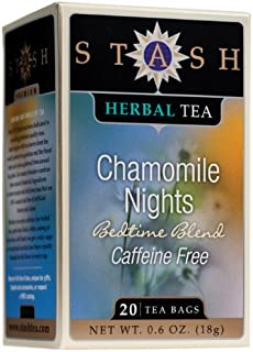 Stash Premium Chamomile Nights Herbal Tea, 20 Tea Bags