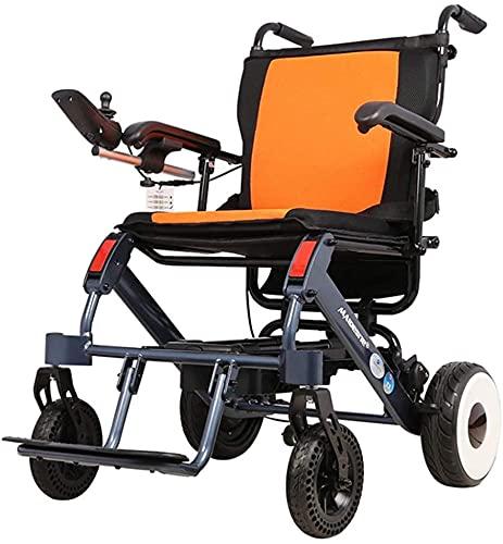 Silla de ruedas eléctrica de aleación de aluminio de almacenamiento plegable de una sola llave se puede abordar ligeramente plegable silla de ruedas scooter de viaje para personas mayores
