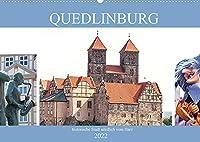 Quedlinburg - historische Stadt noerdlich vom Harz (Wandkalender 2022 DIN A2 quer): Quedlinburg - mittelalterliche Stadt (Monatskalender, 14 Seiten )