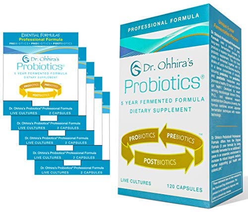 Dr. Ohhira's Probiotics Professional Formula - 120 Capsules with Bonus 5 Travel Size Samples (10 Capsules Bonus)
