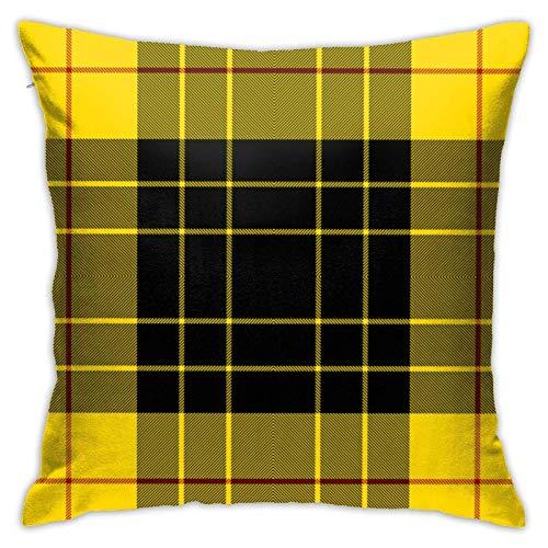 Axige888 Funda de almohada clásica Macleod a cuadros para cojín de invierno o vacaciones decorativas para sofá de 45,7 x 45,7 cm