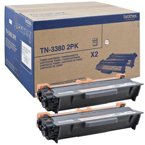 Brother Original Tonerkassetten TN-3380 Twin Pack schwarz (für Brother HL-5440D, HL-5450DN, HL-5450DNT, HL-5470DW, HL-6180DW, HL-6180DWT, DCP-8110DN, DCP-8250DN, MFC-8510DN, MFC-8520DN, MFC-8950DW, MFC-8950DWT)