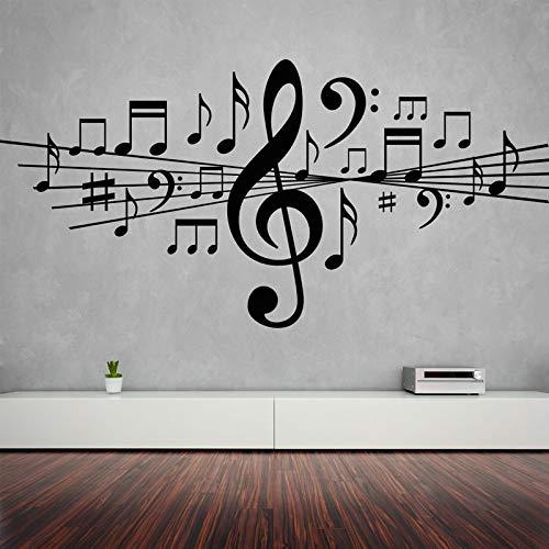 Musiknoten abnehmbare Wandaufkleber für Wohnzimmer Wohnkultur Aufkleber Vinyl Studio Schlafzimmer Tanz Kunst Geschenk Poster k518