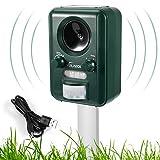 VOLADOR Cat Repellent, Waterproof Ultrasonic Animal Repeller, Solar Battery Fox Scarer, Dog Deterrent for Garden Yard Field Farm