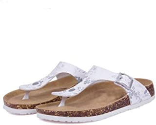 Ling-long Women's Casual Buckle T Strap Thong Strap Sandals Flip Flop Platform Cork Sandals