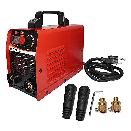 ZXMOTO Mini Electric Welding Machine 110V 225A ARC Welding Machine IGBT MMA DC Inverter Portable Stick Welder w/Digital Display Electrode Holder Earth Clamp