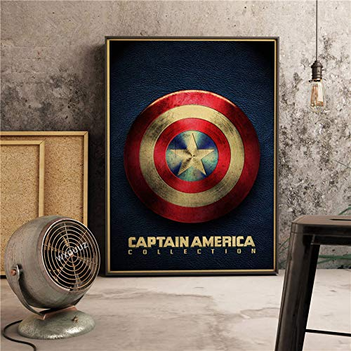 Der Kapitän Classic Super Hero Filme Poster Home Decor Wandkunst Bild Bild Kinderzimmer Kinderzimmer Malerei Leinwand Gemälde 80x110cm O.