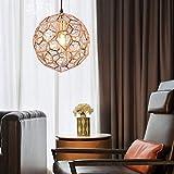 WandaElite Araña de metal Globo de la personalidad creativa 60cm lámpara colgante de acero inoxidable alambre duro E27 Diamante 1 de oro rosa de la lámpara Calidad de la luz decorativa