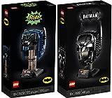 BRICKCOMPLETE Lego 76238 - Juego de 2 máscaras de Batman del clásico de la televisión y casco de Batman 76182