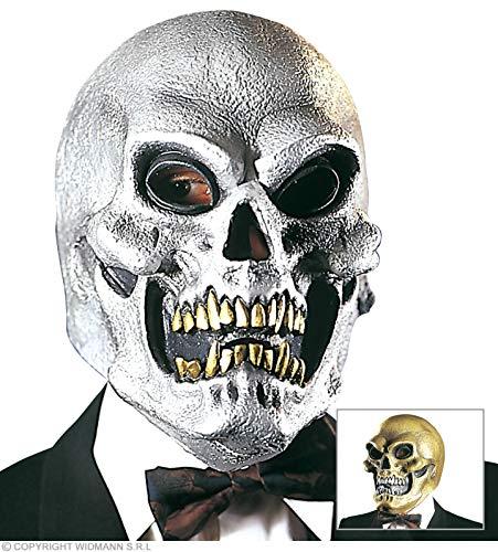 Widmann Masque Crâne Latex Or - Taille Unique