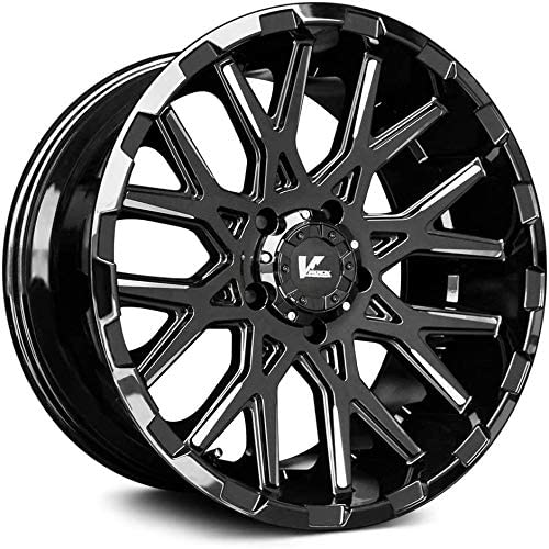 V-Rock Recoil Gloss Black Milled Spokes 20 Max 74% OFF inches Wheel 9.5 sold out x