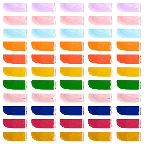 Jubaopen 100PCS Protector de Dedos, Funda de Dedos de Mano, Protector de Dedos Mano Transpirables Algodón para Dedos Libres Proteger los Dedos A Prueba de Viento (6X2X0,1 cm Multicolor)