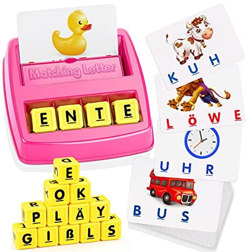 Spielzeug ab 3 4 5 6 7 8 Jahre Mädchen, LET\'S GOS! Buchstaben Lernen Geburtstagsgeschenk für Mädchen 3-8 Jahre Spielzeug für Mädchen 3-8 Jahre Geschenke für Kinder ab 3-8