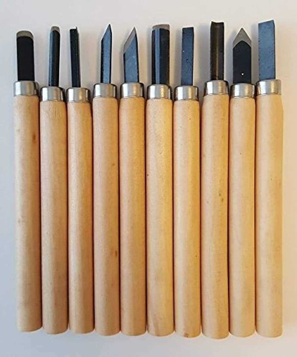 10 PCs 3D Printing Scraper Filament Removal Tool Set Wood Carving Knife Set Chisel Hand Tool Set (Pack of 10)