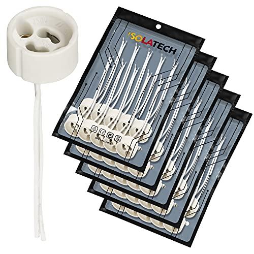 GU10 Fassung Standard Sockel für Halogen und LED, Sockel, VDE, RoHS, 230-250 Volt, 2A, max. 100W - Anzahl: 50