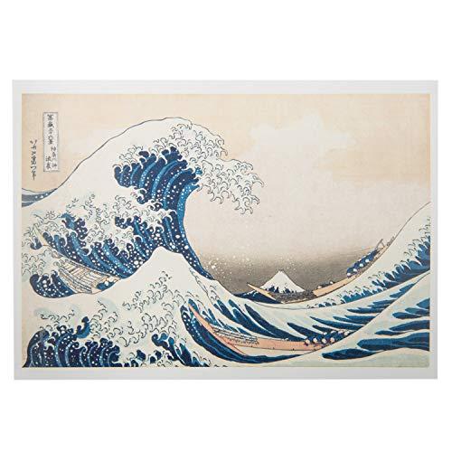 La gran ola japonesa postal