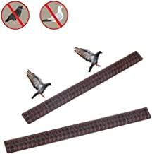 Bird Spikes, Hamkaw Bird Repellent Spikes Plastic Bird Deterrent Spikes to Keep Off Roosting Pigeons and More Small Animals - Protect Your Fence, Walls (10 PCS)