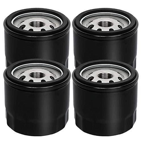 HOODELL 4 Pack 12 050 01-S Oil Filter, Professional Factory Oil Filter Fits Kohler Engine Troy Bilt Bronco 12 050 01 1205001-S 12 050 01-S1, Lawn Mower Oil Filter