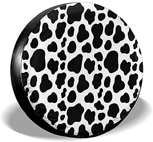 Cow Spot - Cubierta para llanta de repuesto,poliéster,universal,de 16 pulgadas,para llantas de repuesto para remolques,casas rodantes,SUV,ruedas de camiones,camiones,caravanas,accesorios para remolqu